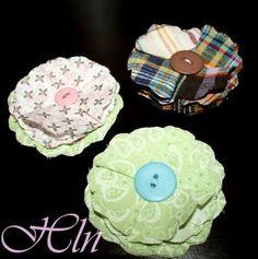 Crafty Schemes: Fabric Flower Hair Clips