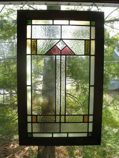 Prairie Craftsman Style Stained Glass Window