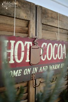 So cute... Hot Cocoa Bar