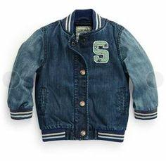 Next Denim Varsity Jacket