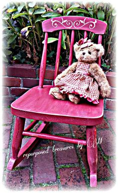 Check out this item in my Etsy shop https://www.etsy.com/listing/209746638/vintage-upcycled-childrens-rocking-chair