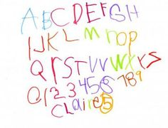 Some great tips to help your child learn to handwrite