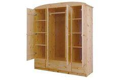 Csanád 4 ajtós 3 fiókos fenyő szekrény lapraszerelt 171x194x56cm| Fenyő szekrények