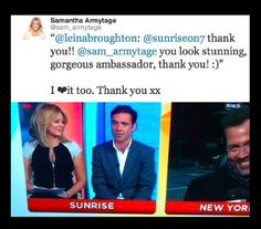 LB Ambassador, Sam Armytage looking absolutely stunning in the Bodycon dress on Sunrise.