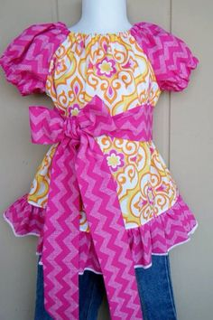 The Leila Peasant Dress sizes 16 by ThisNThatByNicolette on Etsy,