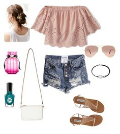 """""""Getting Ready for Spring"""" by kelsie-mosebar on Polyvore featuring Abercrombie & Fitch, Miss Selfridge, Ray-Ban, Alex and Ani, Urban Outfitters and Victoria's Secret"""