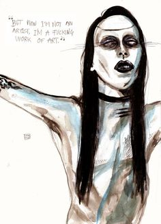 Seriously Ruined: ART | Lucas David #marilynmanson