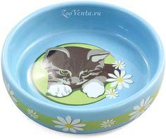 Миска Triol Kitten для кошек, керамическая, 200 мл