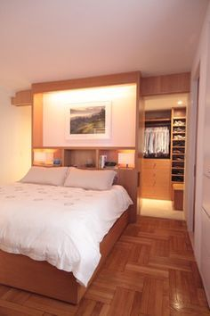 Closet behind bed                                                       …
