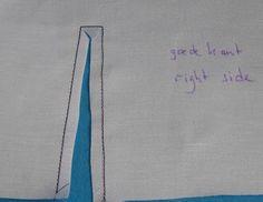 Mouwsplit (overhemd) « Leidraad technieken bij het maken van kleding