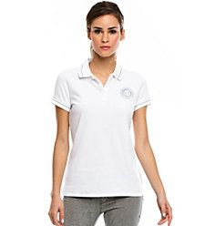 CASUAL SWEET?  SPARKLE LOGO POLO, $48 93C/10S