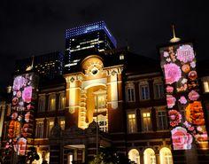 クリスマス、東京駅(丸の内)周辺のイルミネーションが綺麗でした