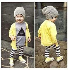 Yellow cardigan kids clothes