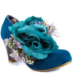 Irregular Choice Love Birds Blue Leather Shoes Fit: True to Size. Irregular Choice Love Birds Blue Leather Shoes This Irregular Ch . Crazy Shoes, Me Too Shoes, Weird Shoes, Quirky Shoes, Red Wedding Shoes, Irregular Choice Shoes, Flower Shoes, Shoe Art, Art Shoes