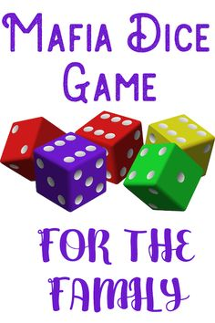 Mafia Dice Game for the Family Grandma Ideas Mafia Dice Game for the Family G. - Mafia Dice Game for the Family Grandma Ideas Mafia Dice Game for the Family Grandma Ideas Mafia - Family Card Games, Fun Card Games, Games For Fun, Card Games For Kids, Dice Games, Activity Games, Games For Girls, Games To Play, Best Family Games
