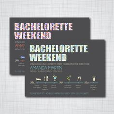 14 DIYable Bachelorette Party Invitation Templates Party