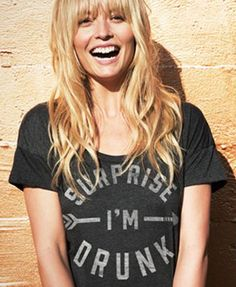 surprise I'm drunk tee // I think we need these for Blake! Rock Style, Style Me, Mode Lookbook, Look T Shirt, Grunge, Look Fashion, Womens Fashion, Indie, Moda Boho