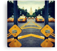 Canvas Print #DressedNYC #Print #Taxi #RedBubble #BrandonBrinkley #NewYorkCity #NYC