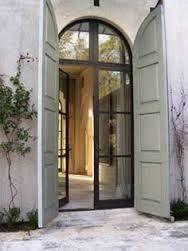 W Bridge House Steel Doors Shutters Architecture Shutter Doors Arched Doors, Entrance Doors, Windows And Doors, Doorway, Internal Doors, Steel Windows, Patio Doors, Arched Front Door, Windows Decor