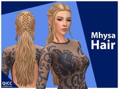 Maxis, Mods Sims, Medieval Hairstyles, Female Hairstyles, Sims Medieval, The Sims 4 Cabelos, Pelo Sims, Sims4 Clothes, Sims 4 Mm Cc