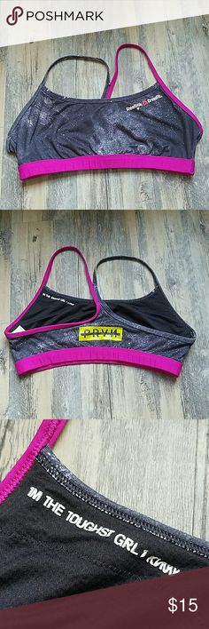 Reebok Crossfit Sports Bra EUC Front Rack Like new,  the size had rubbed out from washing,  but it is a large.  Super comfy and great for all fitness programs Reebok Intimates & Sleepwear Bras