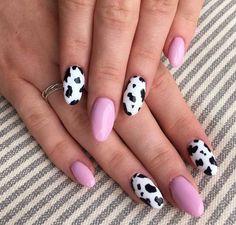 10 Most Eye-Catching Summer Nails Acrylic Coffin - Retiktok Media French Nails, Nail Art Designs, Simple Nail Designs, Acrylic Nail Designs, Cow Nails, Nagellack Trends, Acylic Nails, Nail Polish Trends, Thanksgiving Nails