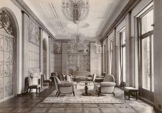 旧朝香宮邸 《大客室》(松井写真館 1933年頃) 洋間,インテリア,アールデコ