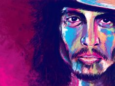 VOKA: Johnny Depp Voka Art, Portrait Art, Portraits, Modern Art, Contemporary Art, Art N Craft, Sketch Painting, Johnny Depp, Beautiful Paintings