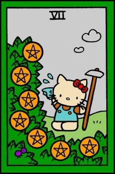 Aug 22: Seven of Pentacles You've done the hard work, you've planted the seeds - for now, don't fret and worry over what will grow, step back and let it grow. There will be more work to do, but for now, rest and trust that your efforts will pay off.