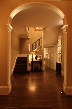 Browse hall, corridor and stair lighting images to see how to add impact with advise and light fittings from John Cullen Lighting, the lighting experts. Entrance Lighting, Hall Lighting, Stair Lighting, Living Room Lighting, Interior Lighting, Entrance Hall, Lighting Concepts, Lighting Design, Lighting Ideas