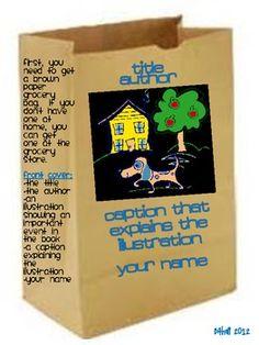 Fun Book Reports - Paper Bag Book Report - Beyond the Garden GATE Shari Bithell - TeachersPayTeachers.com