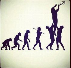 Evolution rugby #rugby #inspiration