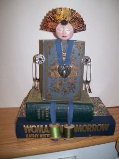 Altered book doll - Sewphia. Wow! That's really different!