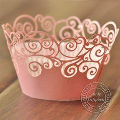 Wedding Cupcake Wrapper SVG | white lace cupcake wrapper , laser cut muffin cup cake cups wrappers ...
