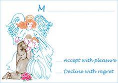 RSVP Card # Angel #Wedding
