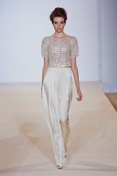 Temperley London Spring 2013 - Beautiful, high waisted trousers are what I want from fashion week