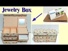 Next Post Previous Post DIY Jewelry Box From Used Cardboard Next Post Previous Post Diy Jewellery Box Cardboard, Diy Jewlery Box, Cardboard Box Crafts, Diy Jewelry, Jewerly Box Diy, Box Video, Diy Karton, Jewelry Box Plans, Jewelry Organizer Drawer