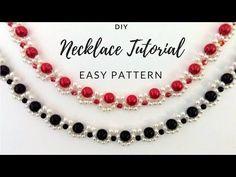 DIY necklace. Elegant jewelry making tutorial. 2 beaded necklaces-1 beading pattern - YouTube