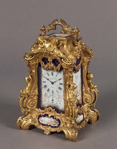 French Gilt Brass Mantel Clock by PIERRE & ALFRED DROCOURT : The British Antique Dealers' Association
