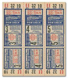 1939 St. Louis Cardinals Phantom World Series Tickets