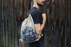 Vak PLACHTÍM | E-shop | Breakfaststory Drawstring Backpack, Backpacks, Bags, Handbags, Drawstring Backpack Tutorial, Taschen, Purse, Purses, Backpack