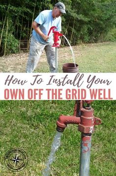 How To Install Your Own Off The Grid Well — Water is the most essential thing we need for life. With out water we will die within 3 days. Knowing how to install a water well is vital if not the most essential knowledge we could ever have stored in our bra Homestead Survival, Survival Prepping, Emergency Preparedness, Survival Skills, Survival Gear, Survival Shelter, Wilderness Survival, Survival Weapons, Emergency Supplies