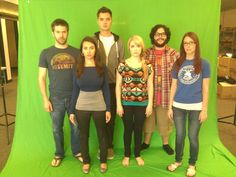 The SourceFed host. From left to right are.. Joe Bereta,Trisha Hershberger,Elliot Morgan,Lee Newton,Steve Zaragoza,Meg Turney.