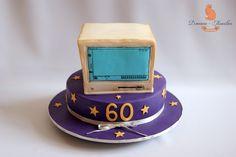 computer cake ideas, computer+cake, computer macintosh, novelty cakes ideas, anniversary cake 60th
