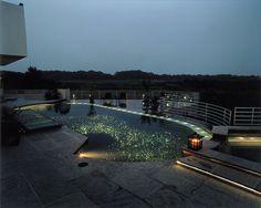 """Galaxy"" pool has underwater fiber-optic lights; Ron Gibbons"