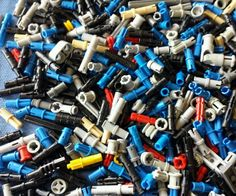 LEGO Over 200 Technic Pins  Bushings Connectors Parts Swivels Etc.  #LEGO