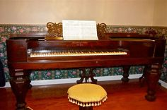 This 1856 Steinway and Sons square grand piano has been in the same family since it was purchased!    We'd like to thank Lynn Tench for sharing it with us.  It is very beautiful.  Music used to be a vital part in homes in days gone by.  So many good times would have occured around this beautiful piano and we know it carries so many memories.   It is magnificent in several ways!