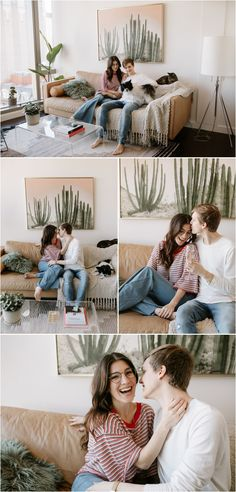 What to wear for couples photos: jeans plus a red striped shirt and a cream colored long-sleeve shirt. These playful and natural couples photos were taken at a stunning downtown Portland apartment by Katy Weaver Photography Engagement Photo Outfits, Engagement Photos, Portland Apartment, Downtown Portland, Red Stripes, California Wedding, What To Wear, Long Sleeve Shirts, Photo Wall