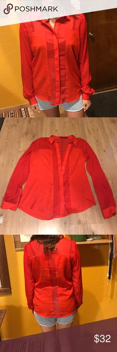 The Limited Rouge Button-Down Fiery red, like the fire in my heart! Love this classy shirt, but do not work in the right industry for it as I build trails. Would love to see someone wearing it! I think I've worn it once! The Limited Tops Button Down Shirts