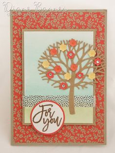 spring blossom tree card card using Stampin Up Thoughtful Branches bundle &… Fall Cards, Holiday Cards, Girl Birthday Cards, Creative Class, Blossom Trees, Spring Blossom, Class Projects, Stamping Up, Stampin Up Cards